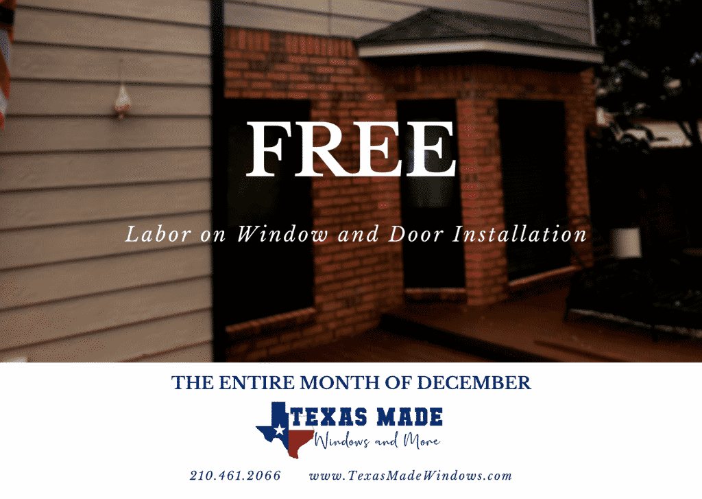 Free Window and Door Labor in San Antonio